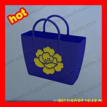 Water Shedding Durable Reusable Silicone Bags For Shopping With Printed Customized Logo