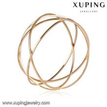 51639 brazaletes grandes de las mujeres de Xuping Jewelry Fashion con el oro 18k plateado