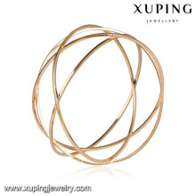51639 Xuping Jewelry Fashion Big Women Bangles with 18k Gold Plated