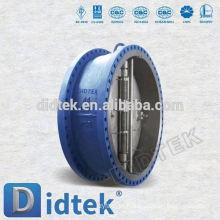 Válvula de retenção de bolacha de disco único com flange de placa Dual Didtek