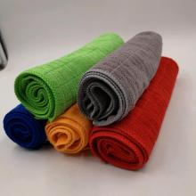 Absorbent Soft Weft Knitting Lattice Microfiber Towel
