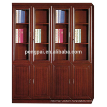dignified design walnut office file bookcase cabinet with glass