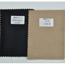 Ligera tela de lana tejida de cachemira 100% lisa de 310g / m