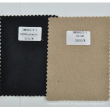 Peso leve 310g / m 100% cashmere macio tecido de lã