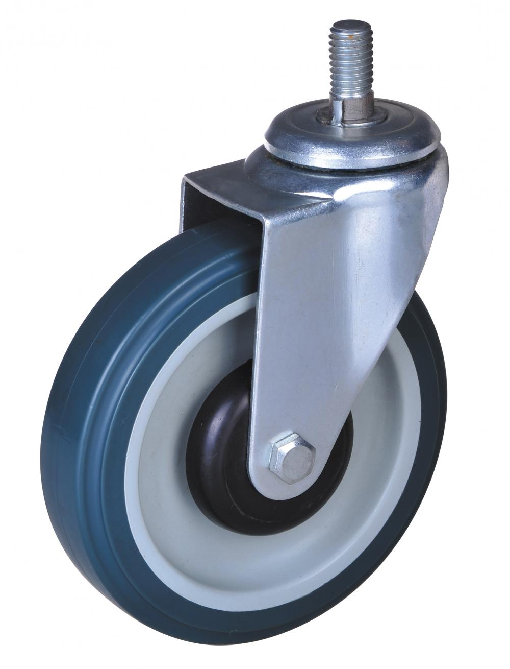 5-tums PP / TPE-hiss Swivel Caster