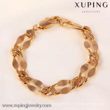 71049 Xuping Fashion Woman Bracelet com banhado a ouro