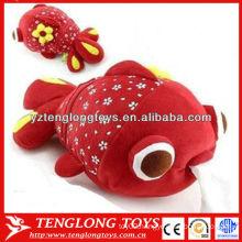 Red fish shape cute plush tissue box
