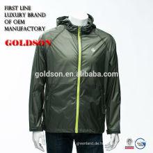 Mens Sports Casual Jacke Beliebte Stil Nylon Breathable und wasserdichtes Gewebe