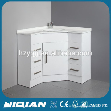 Hangzhou Factory Corner Furniture High Gloss White Lacquer Toilet Corner Furniture