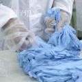 Guantes de nitrilo azul de nuevo diseño sin polvo