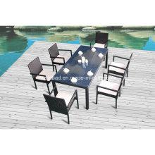 Aluminium Ess-Set für Outdoor mit Stühlen / SGS (8217-1)