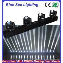 RGBW 4in1 4x10w moving head led beam