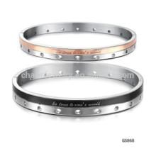 2015 neue schwarze Rosen Phnom Penh Löcher Weihnachtsgeschenk Paar Titan Stahl Armband GH868