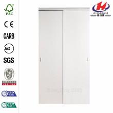 48 in. x 80.50 in. 2010 Series White 1 Lite Composite Universal Grand Sliding Door