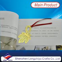 Marcador chapeado ouro da ofício da fita da folha da cavidade do metal gravura a água forte