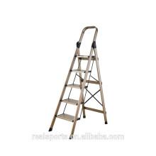 Escada de dobramento durável de dobramento do uso doméstico da escada escada de dobradura quatro / cinco etapas
