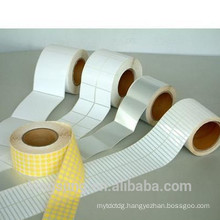 paper material blank white self adhesive label roll