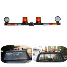 LED double amber beacon and tail light Mine Emergency Warning full lightbar