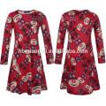 Vestidos de fiesta de Navidad del nuevo vestido de los cabritos del diseño en el vestido de China Baby Girl en color rojo