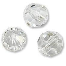 Grânulos de cristal redondos facetados de 6mm, grânulos de cristal no volume