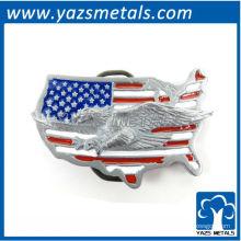 personnaliser les ceintures des boucles, personnalisé USA boucle de la carte avec le drapeau et l'aigle