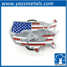 customize belts buckles, custom USA map buckle with flag and eagle