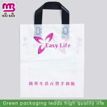Clear foldable plastic clip loop handle bags to put clothes
