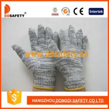 Guantes de trabajo de punto de 7 galgas de algodón y poliéster -Dck515