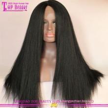 Atacado remy peruca de cabelo humano italiano yaki cabelo peruca do laço italiano yaki peruca cheia do laço
