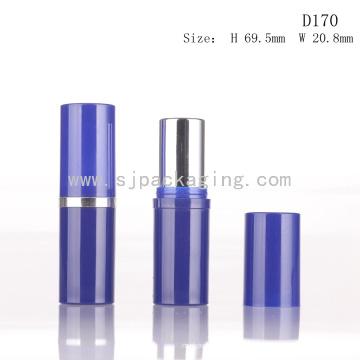 D170 Runde blaue benutzerdefinierte Kunststoff leere Lippenstift Rohr Verpackung