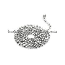 Moda de alta qualidade de metal inoxidável bola grânulo cadeia