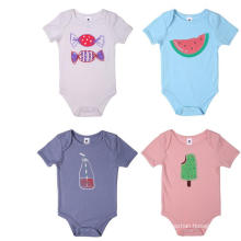 Wholesale Fashion New Design Bamboo Fiber Baby Bodysuit