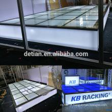 Detian Display oferece piso de vidro, palco de vidro para feiras de exposições