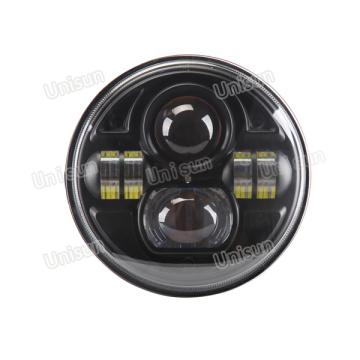 Faros delanteros / faros LED redondos de alta potencia de 7 pulgadas 70W H4