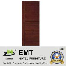 Puerta de la habitación del hotel interior de madera maciza (EMT-HD06)