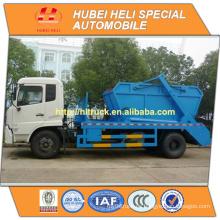 Nuevo DONGFENG 4x2 10cbm que balancea el motor diesel del carro de la basura del brazo B190 33 190hp