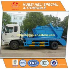 New DONGFENG 4x2 10cbm swinging arm garbage truck diesel engine B190 33 190hp