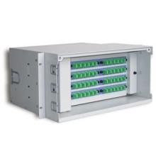 Rack mount 19 pouces 1u 2u boîte de distribution en fibre optique, tableau de distribution de distribution de fibres odf 12/24/48/96/144 noyaux