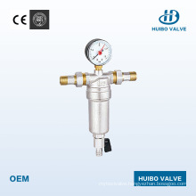 Pressure-Reduced Valve Water Pre Filter 1/2′′-3/4′′ Inch with Manometer
