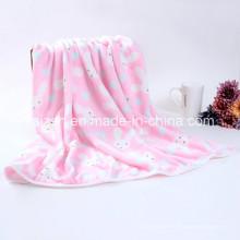 Cobertor bonito das crianças da cobertura do bebê de veludo da flanela