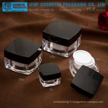YJ-K série 5g 15g 30g 50g classique et décorative haute acrylique transparent carré jar
