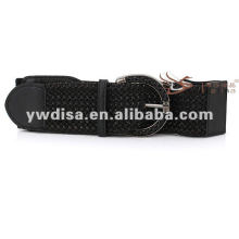 Popular High Quality Black Elastic PU Leather Belt