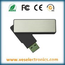 New Rotate Model ABS Aluminum Material Custom Logo USB Memory Stick