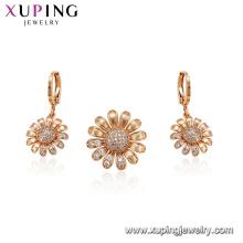 64752 xuping mais novo multi-pedra girassol moda feminina conjunto de jóias