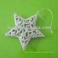 Silver Christmas Star, Christmas Tree Ornament