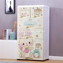 Пластиковый шкаф для одежды для хранения игрушек Пластиковый контейнер