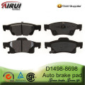D1498-8698 Rear Brake Pad for 2011 Dodge and Jeep