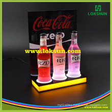 Hot Sale Desk Top Acrylic LED Display Stand LED Wine Holder