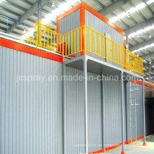 Linha de revestimento industrial equipamento com forno de secagem de aquecimento