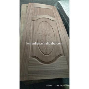 Puerta principal diseño de madera tablero de la puerta natural americana nogal puerta piel